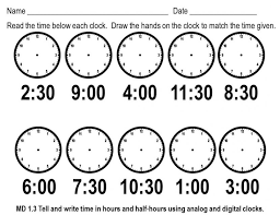 Telling Time Worksheets For First Gr | Elipalteco