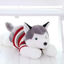 siberian husky stuffed dog brinquedos kawaii stuff pillow gifts for kids birthday puppy cute husky plush toy soft 70c0592 in stuffed plush s