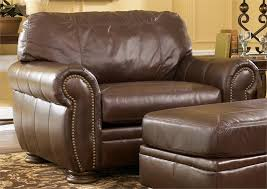 palmer walnut chair and a half from millenniumashley furniture throughout chair and a half with ottoman