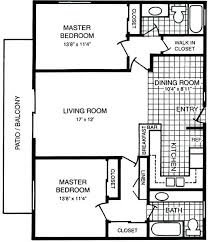 inside the best pict 2 bedroom house plans with 2 master suites