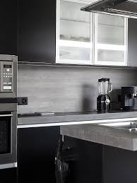 modern gray backsplash tile black countertop white cabinet gray kitchen cabinet countertop limestone backsplash tile
