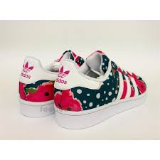 adidas shoes for girls superstar pink. zoom immagine shoes adidas superstar junior s80140 girl white watersea pink flower for girls r