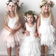 <b>2018</b> Cheap <b>Lovely Lace Applique</b> Short Flower Girls Dresses ...