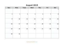 Blank Calendar Template 2015 Printable Calendar Word Word Calendar