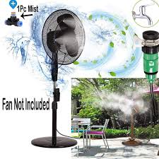 Diy Crafts Fan Misting Kit Convert Connects Fan Water Mister Cooling Patio Breeze Misting Heat Down Umbrellapatiopergolavestibule 1 Pc Fan Mist