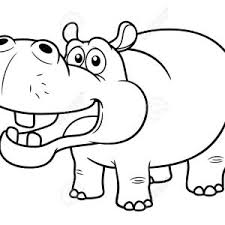 Small Picture Sheets Hippo Outline Drawing 93 With Additional Coloring Pages