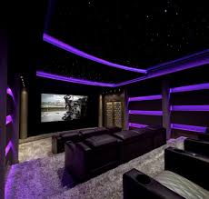 home theater ceiling lighting. New York Tray Lights Home Theater Contemporary With Star Ceiling Waterfall Coffee Tables Shag Carpet Lighting