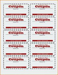 Blank Coupon Template Takesdesign Co