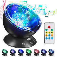 Ocean Wave Projector Night Light Us 14 57 40 Off Led Ocean Wave Projector Night Light With Usb Remote Control Tf Cards Music Player Speaker Aurora Projection Lighting In Led Night