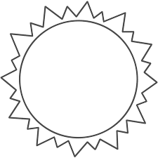 sun template printable for kids template sun template on word template weekly schedule