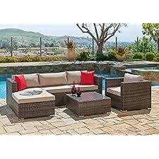 Amazon 7pcs Polar Aurora Outdoor Patio Furniture Rattan