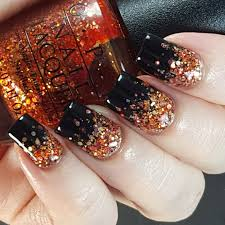 Halloween glitter gradient nail art. … | Nail designs | Pinterest ...