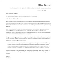 Cover Letter Sample Computer Science 99 Professional Cover Letter Samples Cover Letter Now