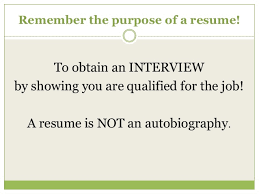 beautiful what is the purpose of a resume gallery simple resume