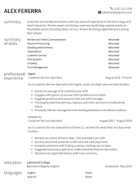 English Resume Samples Customer Service Resume Samples How To Guide Resume Com