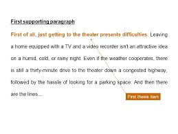 five paragraph essay sample the hazards of movie going by john first supporting paragraph