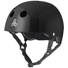 Triple 8 Brainsaver Size Chart Triple 8 Standard Liner Skateboarding Helmet Black Gloss L
