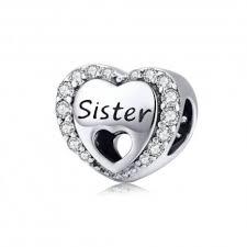 sterling silver charm sister love mijn