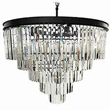 beaded flush mount light luxury wesley crystal 6 light chandelier with clear teardrop
