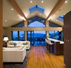 lighting ideas for living room vaulted ceilings