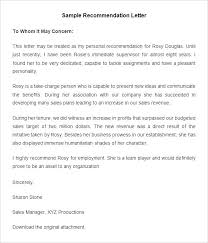 Employee Recommendation Letter Templates Hr Template Free Throughout ...