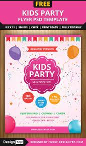 kids party flyer psd template flyers kids party flyer psd template