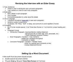 interview an elder essay project by k kuehn the worksheet queen interview an elder essay project