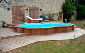 Pool Backyard Designs Small Above Ground Pool Deckl Wooden Fence