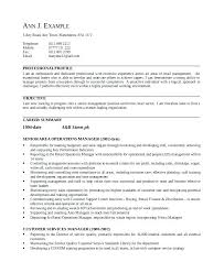 Sample Resumes For Management Positions This Resume Was Written On