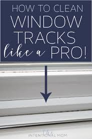 clean window tracks easy
