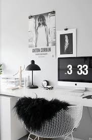 white office decors. Study Space Design Ideas Workspaces, White Office And Black Decors G