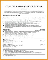 Technical Proficiency Resumes Computer Software Knowledge Resume Computer Hardware Skills For