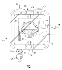 patent us6519208 locking timer and outlet cover google patents Diagram Electrical Plug Cover Diagram Electrical Plug Cover #13 French Electrical Plug Wiring Diagram
