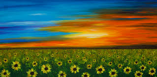 sunflower painting sunflower sunset flower art by sharon mings by sharon mings