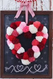 valentine wreaths for your front door13 DIY Valentines Day Decorations  Easy Valentines Day Decor Ideas
