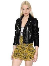 isabel marant Étoile washed leather biker jacket black mdfcsw2 women clothing isabel marant barneys various styles