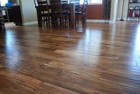 image of acacia hardwood flooring installation