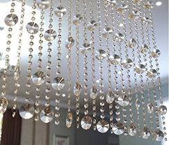 fushing 5 pcs clear crystal chandelier wedding bead strands for chandelier home party wedding decoration 1ft style 2