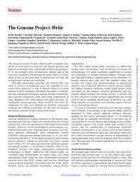 Pdf The Genome Project Write