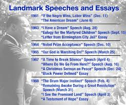 sdsu > king in the classroom timeline of king s speeches and essays