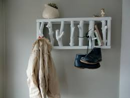 modern rustic wooden hooks wall coat rack flat white custom order