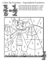 Multiplication Coloring Sheets Grade Fun Math Worksheets For 5th Gr