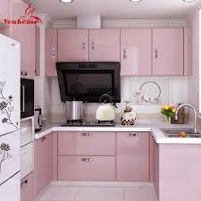 Wallpaper For Kitchen Cabinets Pink Paint Waterproof Vinyl Decorative Film Self Adhesive