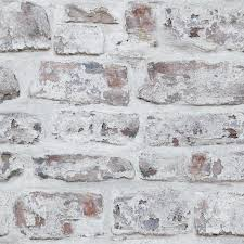 Arthouse Whitewashed Wall Wallpaper in ...