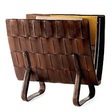 Brown Leather Magazine Holder Cool Leather Magazine Rack Triple Magazine Rack Faux Leather Leather