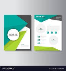 Green Layouts Green Black Brochure Flyer Leaflet Layout Template