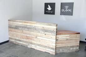 receptionist desks reclaimed wood reception desk 1 by ions reception desks for salons used