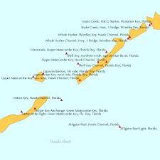 Upper Matecumbe Key West End Hawk Channel Florida Tide Chart