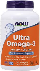NOW Foods - Ultra Omega-3 500 EPA/250 DHA - 180 ... - Amazon.com