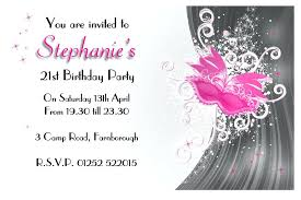 18th birthday invitation card background 7